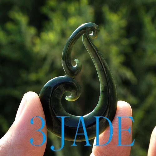Nephrite Jade Koru