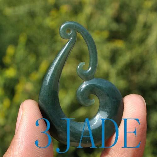 Jade Koru Amulet
