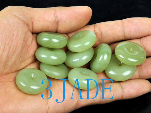 jade disc necklace