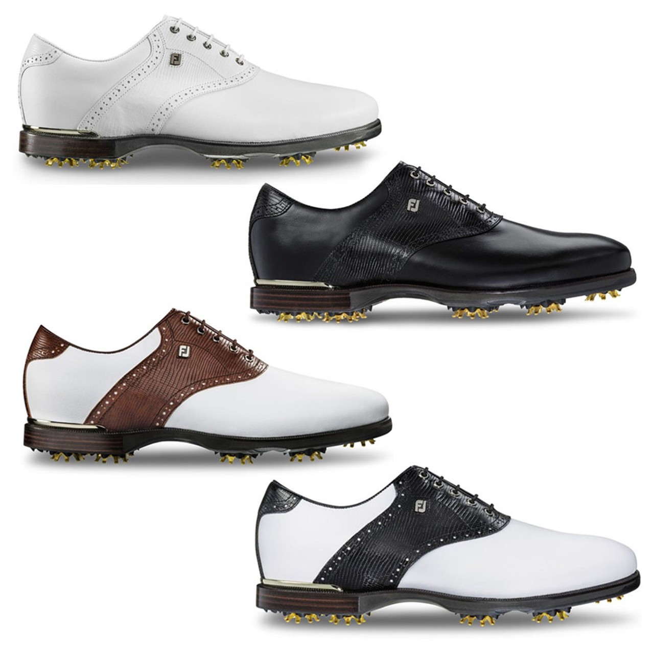 FootJoy Icon Black Leather Golf Shoes