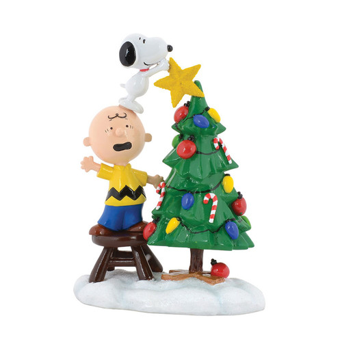 Peanuts Tree Topper Figure Snoopy Charlie Brown