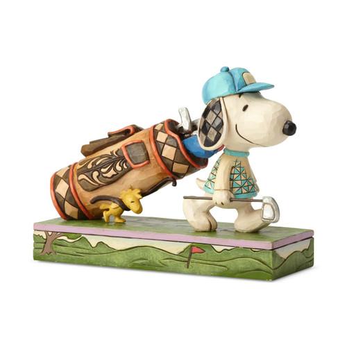 Peanuts by Jim Shore Golf Snoopy's Birdie Woodstock
