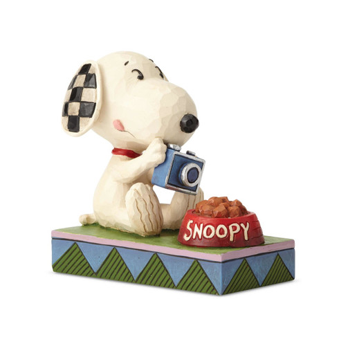 Peanuts by Jim Shore Snoopy Foodie Photographer