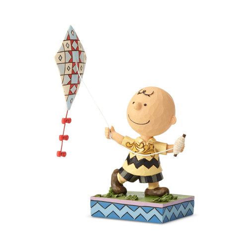Peanuts by Jim Shore Charlie Brown Flying Kite Up, Up and Away!