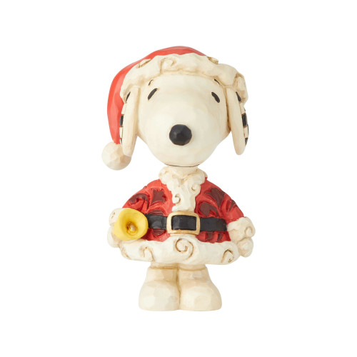 Peanuts by Jim Shore Snoopy Santa Mini Figure