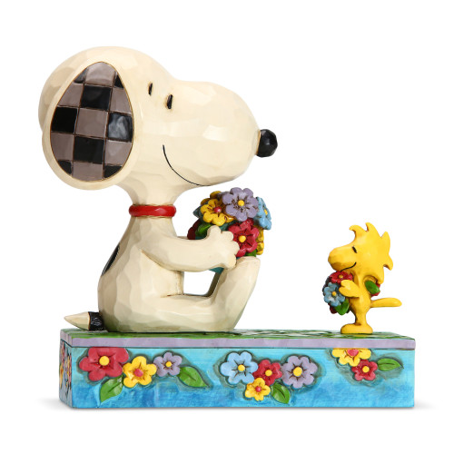 Peanuts by Jim Shore Snoopy Woodstock Flowers For Friends
