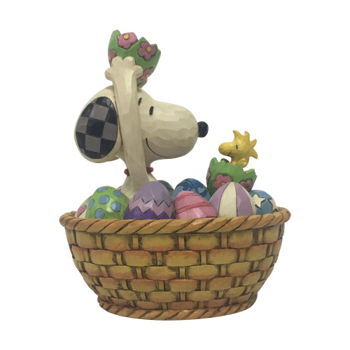 Peanuts by Jim Shore Snoopy Woodstock in Easter Basket