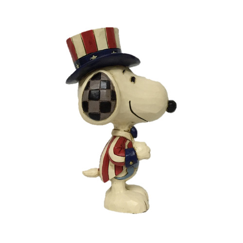 "Peanuts by Jim Shore Mini Snoopy Patriotic 3.75"" Tall"