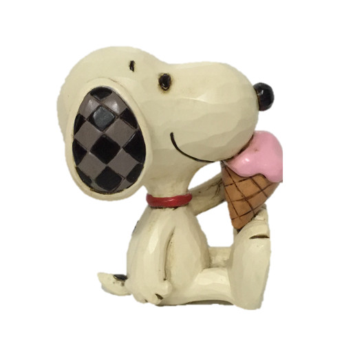 "Peanuts by Jim Shore Mini Snoopy Ice Cream 2.75"" Tall"