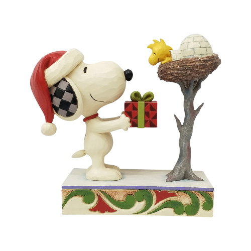 Snoopy Woodstock A Snowy Gift
