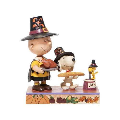 """Thanksgiving Snoopy Charlie Brown Thankful for Friendship 5.75"""" Tall"""