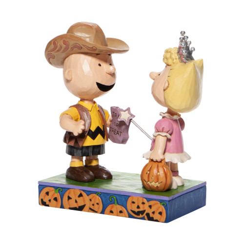 "Halloween Charlie Brown and Sally Trick or Treat 5.5"" Tall"