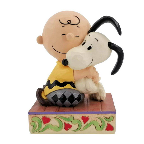 "Charlie Brown Hugging Snoopy 4.5"" Tall"