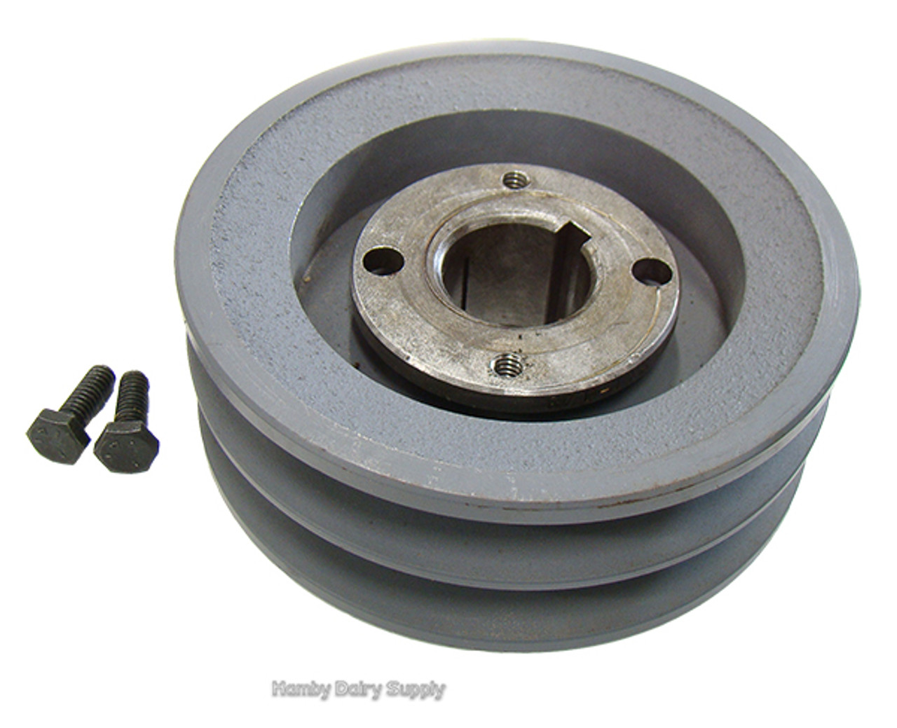 Alamo Motor Pulley Sheave for 4.5 or 5.0 hp motor Fits 75+ only - Hamby Dairy Supply