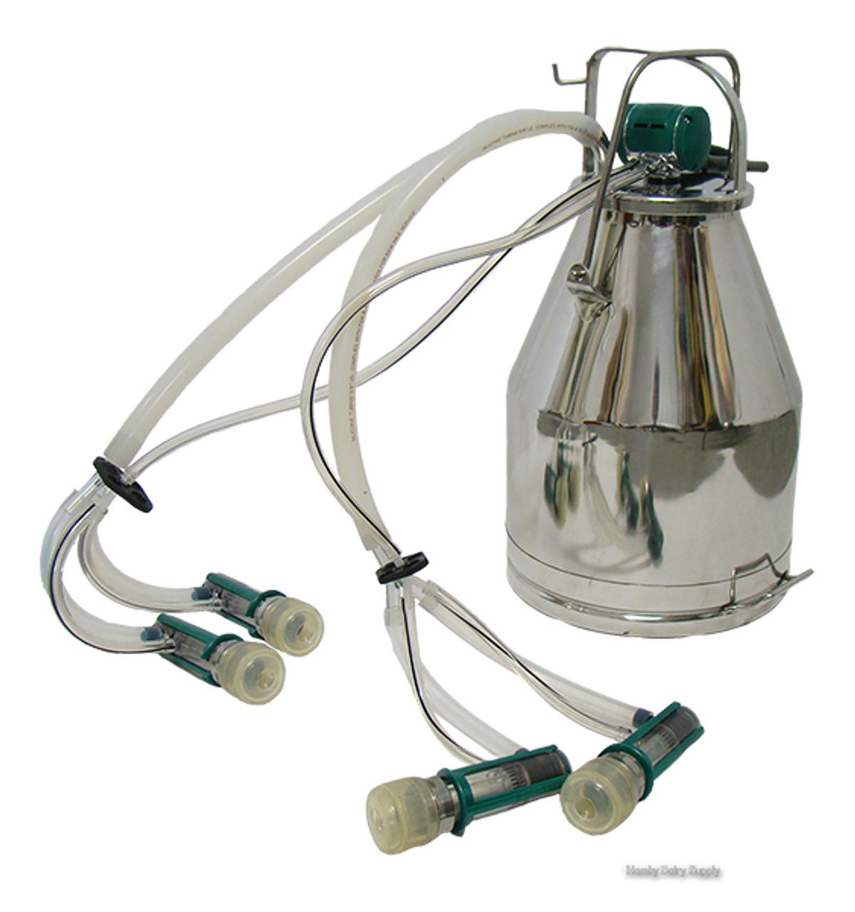 2 Goat Improved GEA TopFlow Z Bucket Milker (4 options ...