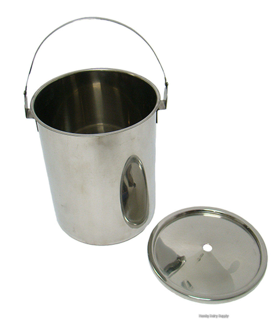 Stainless Steel Pail Lid For 2 Gallon Pasteurizer Hamby Dairy Supply