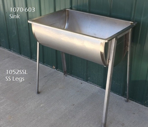 ... Stainless Leg Set For Double Or Single Wash Sinks ...