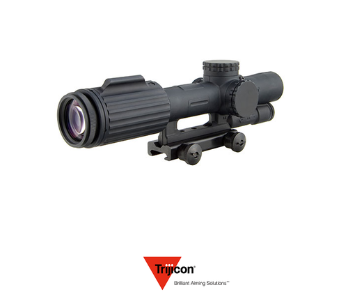 VCOG 1-6X24 RIFLESCOPE RED SEGMENTED CIRCLE / CROSSHAIR .223 / 77 GRAIN BALLISTIC RETICLE W/ THUMB SCREW MOUNT