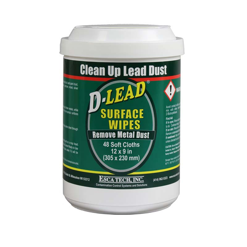 D-LEAD® SURFACE WIPES 48 TOWELS/CANISTER - CASE OF 8 CANISTERS