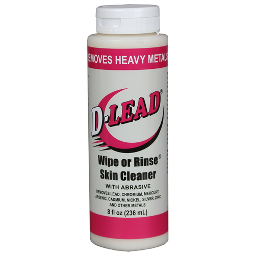 D-Lead® Wipe or Rinse® Skin Cleaner with Abrasive 8 oz. Case of 24 bottles