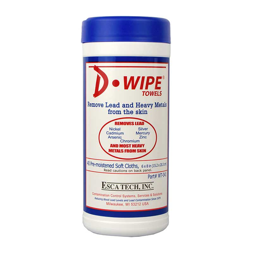D-Wipe 8″ x 6″ Towel 40 towels/canister Case of 12 canisters