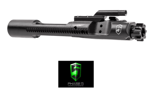 PHASE 5 M16 / M4 CHROME LINED BLACK PHOSPHATE COMPLETE BOLT CARRIER GROUP