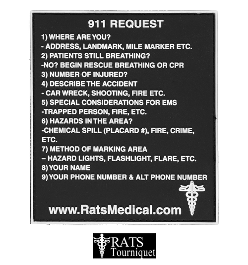 R.A.T.S 911 REQUEST VELCRO PVC PATCH