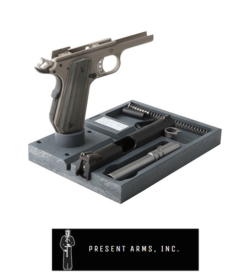 PRESENT ARMS INC 1911 ARMORER PLATE WITH MP-1A MAG POST & SWIVEL