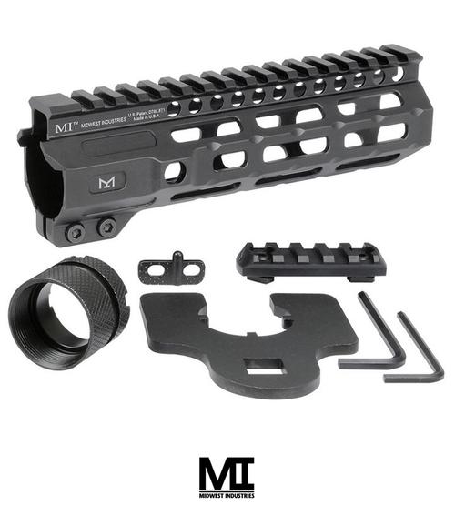 "MIDWEST INDUSTRIES AR-15 COMBAT HANDGUARD M-LOK ALUMINUM 7"" BLACK"
