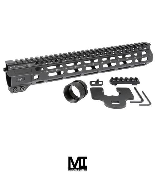 "MIDWEST INDUSTRIES AR-15 COMBAT HANDGUARD M-LOK ALUMINUM 12.625"" BLACK"