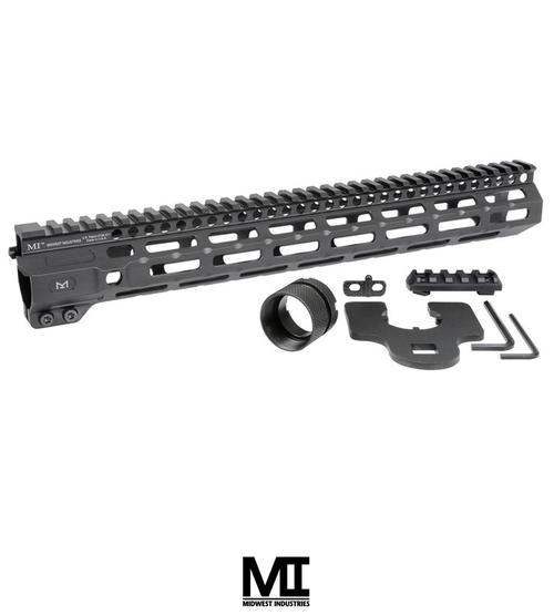 "MIDWEST INDUSTRIES AR-15 COMBAT HANDGUARD M-LOK ALUMINUM 14"" BLACK"