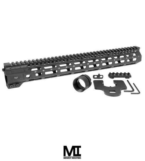 "MIDWEST INDUSTRIES AR-15 COMBAT HANDGUARD M-LOK ALUMINUM 15"" BLACK"