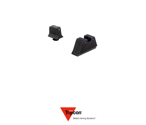 NIGHT SIGHT SUPPRESSOR SET FOR GLOCK 17/22 PISTOLS BLACK FRONT / BLACK REAR WITH GREEN LAMPS