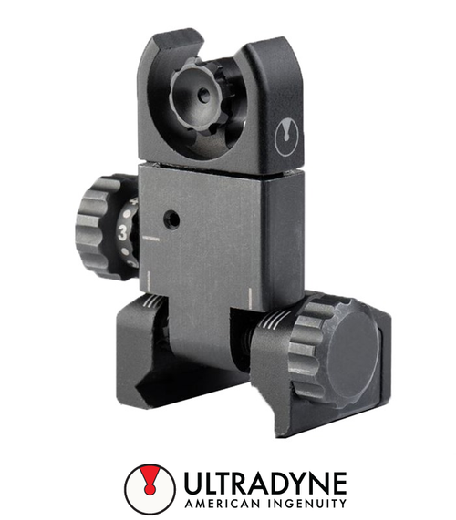 ULTRADYNE USA C4 FOLDING REAR SIGHT UDBLACK