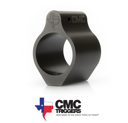 CMC TRIGGERS LOW PROFILE AR15 GAS BLOCK .750 – NITRIDE FINISH