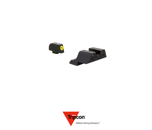 HD XR NIGHT SIGHT SET YELLOW FRONT OUTLINE FOR GLOCK 17/22 PISTOLS