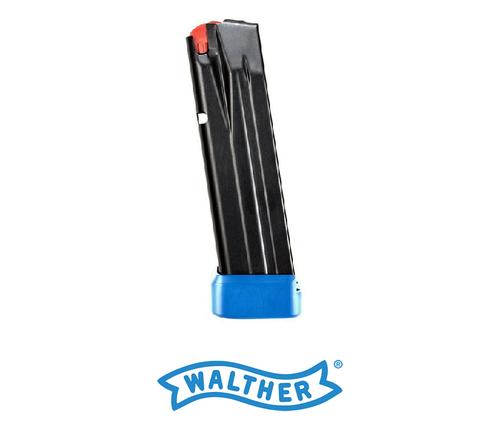 WALTHER PPQ M2 9MM MAGAZINE 10 ROUND ALUMINUM BLUE