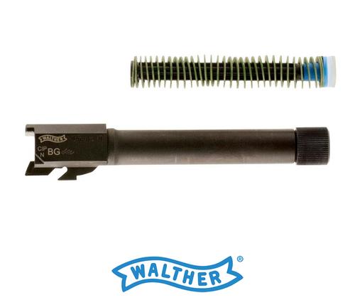 """WALTHER PPQ M2 9MM THREADED BARREL KIT 4.6"""" BLACK"""