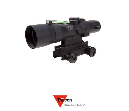 3X30 COMPACT ACOG SCOPE DUAL ILLUMINATED GREEN CHEVRON .223/62GR. BALLISTIC RETICLE W/ COLT KNOB THUMBSCREW MOUNT