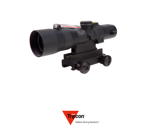 3X30 COMPACT ACOG SCOPE DUAL ILLUMINATED RED CROSSHAIR .308/168GR. WINCHESTER BALLISTIC RETICLE W/ COLT KNOB THUMBSCREW MOUNT