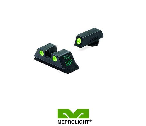 MEPRO GLOCK 10MM/45ACP FIXED SELF ILLUMINATED NIGHT SIGHTS