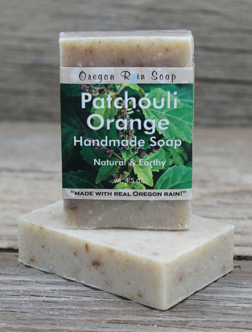 Patchouli Orange - mild cleansing bar soap 100% natural Scented with essential oils Made in Oregon, USA