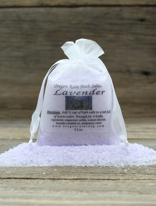 Natural Bath Salts Lavender Essential Oil Relaxing and Calming
