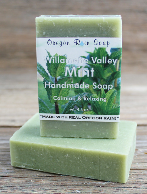 Mint - mild cleansing bar soap Mint from the Willamette Valley 100% naturally scented