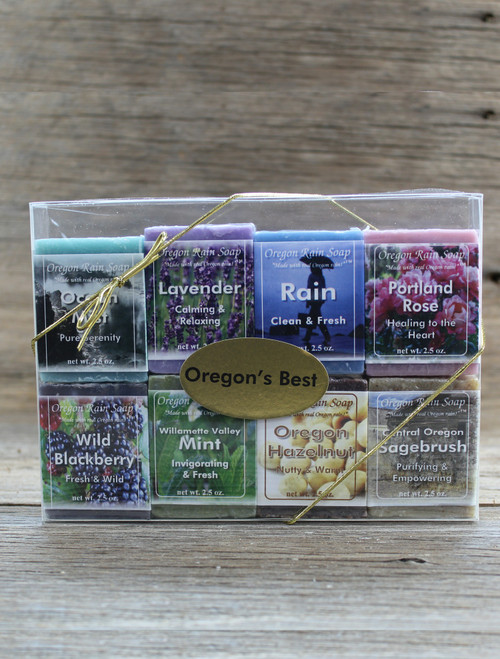 8 soap 2.5 oz sampler gift set Oregon's Best Made in Oregon, USA