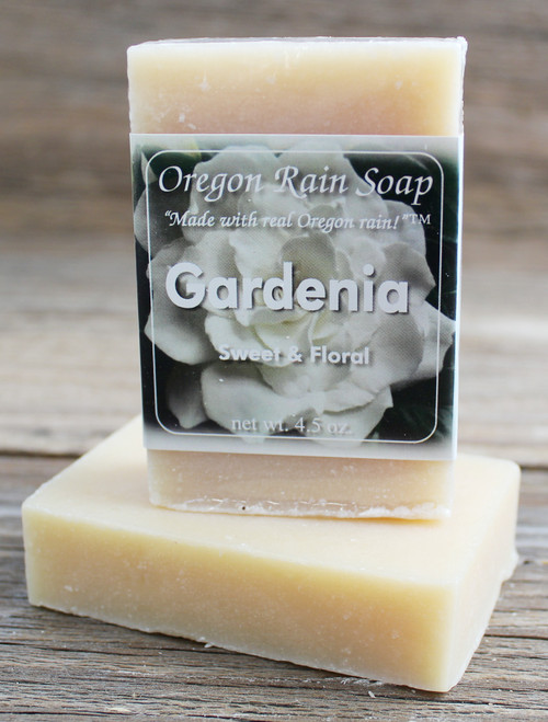 Gardenia - Mild cleansing bar soap Made with real Oregon rain! Made in Oregon, USA