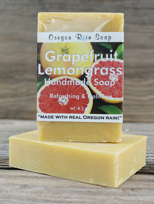 Grapefruit Lemongrass -Mild cleansing bar soap 100% Natural Made in Oregon, USA