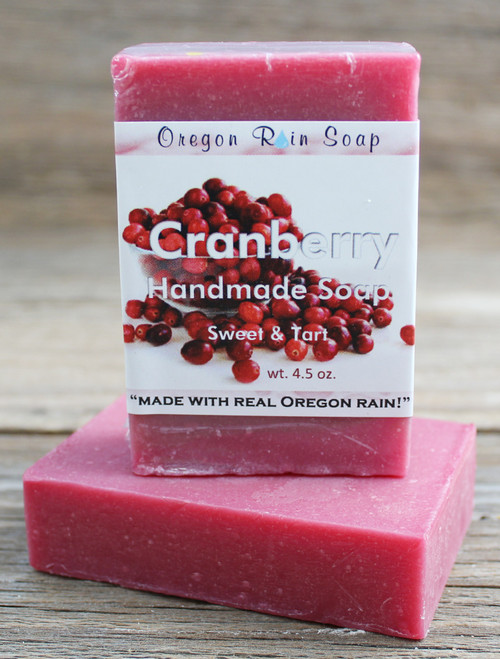 "Mild cleansing bar soap ""Made with real Oregon rain!"" Made in Oregon, USA"