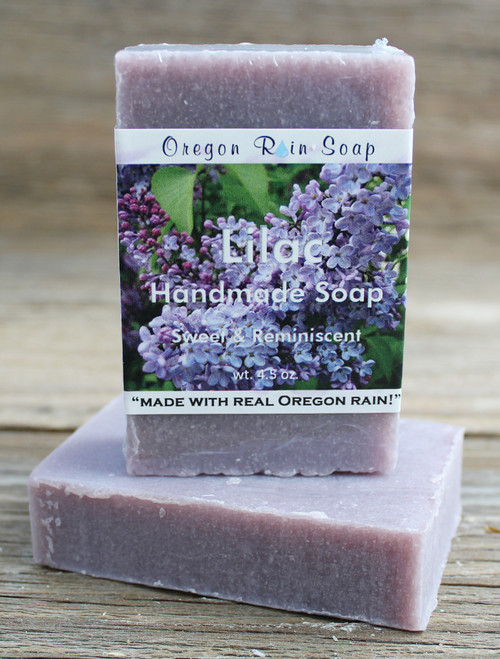 Lilac - Mild cleansing bar soap Scent is true to a lilac flower Made in Oregon, USA