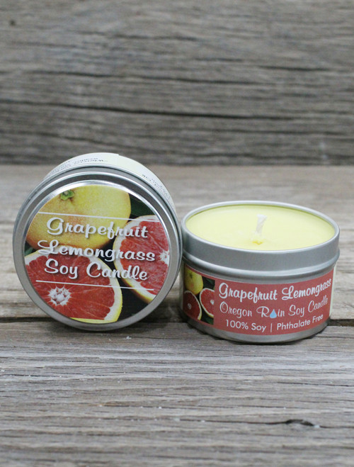 Aromatherapy candle 100% Soy Uplifting and fresh Made in the Pacific Northwest